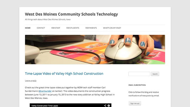 "<a href=""http://wdmtech.wordpress.com/"">West Des Moines Community Schools Technology</a>"