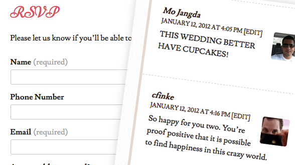 RSVP and Guestbook